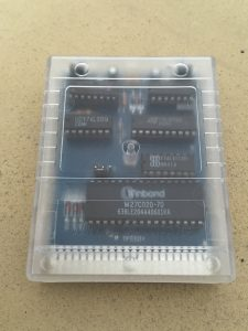 Commodore 64 Final Cartridge III+ cartridge presented in a transparent plastic shell