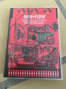 Commodore 64 EasyFlash 3 Cartridge presented in a Universal Game case.