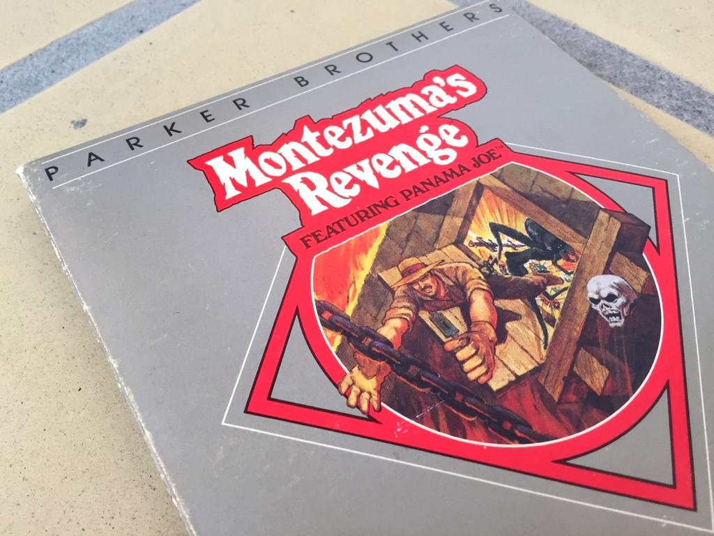 Commodore 64 Montezuma's Revenge featuring Panama Joe game review including a walkthrough video