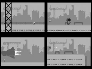 Commodore 64 C64anabalt cartridge game from RGCD.co.uk. In-game images from the game review on breadbox64.com.