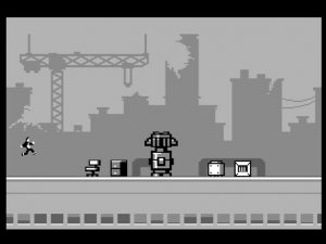 Commodore 64 C64anabalt cartridge game from RGCD.co.uk. In-game obstacles from the game review on breadbox64.com.
