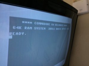 Commodore 64 Reloaded with a modded Kernal ROM. Start-up screen colors are changed. More on breadbox64.com