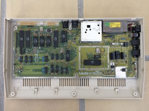 Commodore 64 Version B3, Assy 250466 motherboard. Capacitor mod. See more on breadbox64.com