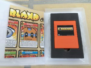 Bomberland cartridge game for the Commodore 64, up to 5 players can play simultaneously. Read more on breadbox64.com