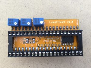 The LumaFix64 for the Commodore 64. Read the review on breadbox64.com