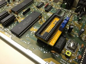 The LumaFix64 for the Commodore 64. The device installed.Read the review on breadbox64.com