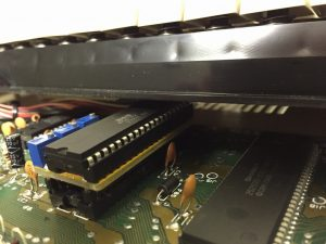 The LumaFix64 for the Commodore 64C. There is room enough below the keyboard! Read the review on breadbox64.co.