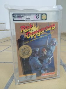 Commodore 64 Rick Dangerous Video Game Authority grade of 95 mint condition. Read the post on breadbox64.com