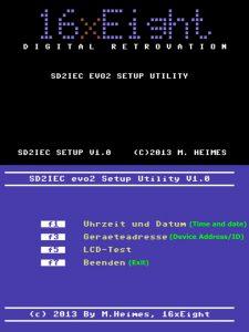 SD2IEC setup utility for the Commodore 64. Read more on breadbox64.com