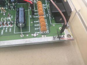 Commodore 64C RGB diode LED flashing light mod. breadbox64.com.