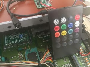 Commodore 64C RGB diode LED flashing light mod. breadbox64.com. remote control.