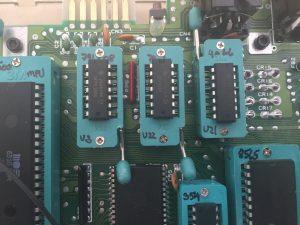 ZIF socket modification of a Commodore 64C. breadbox64.com