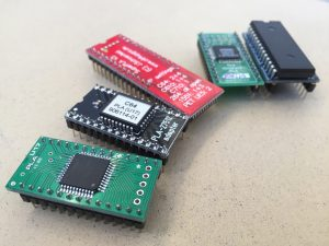 A plethora of commodore 64 PLA replacement PCB's. Read more on breadbox64.com