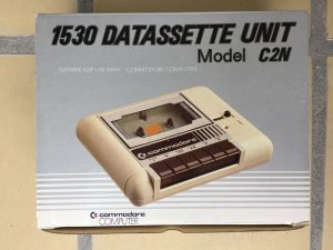 Commodore 1530 Datasette Model C2N carboard box. More pictures on breadbox64.com