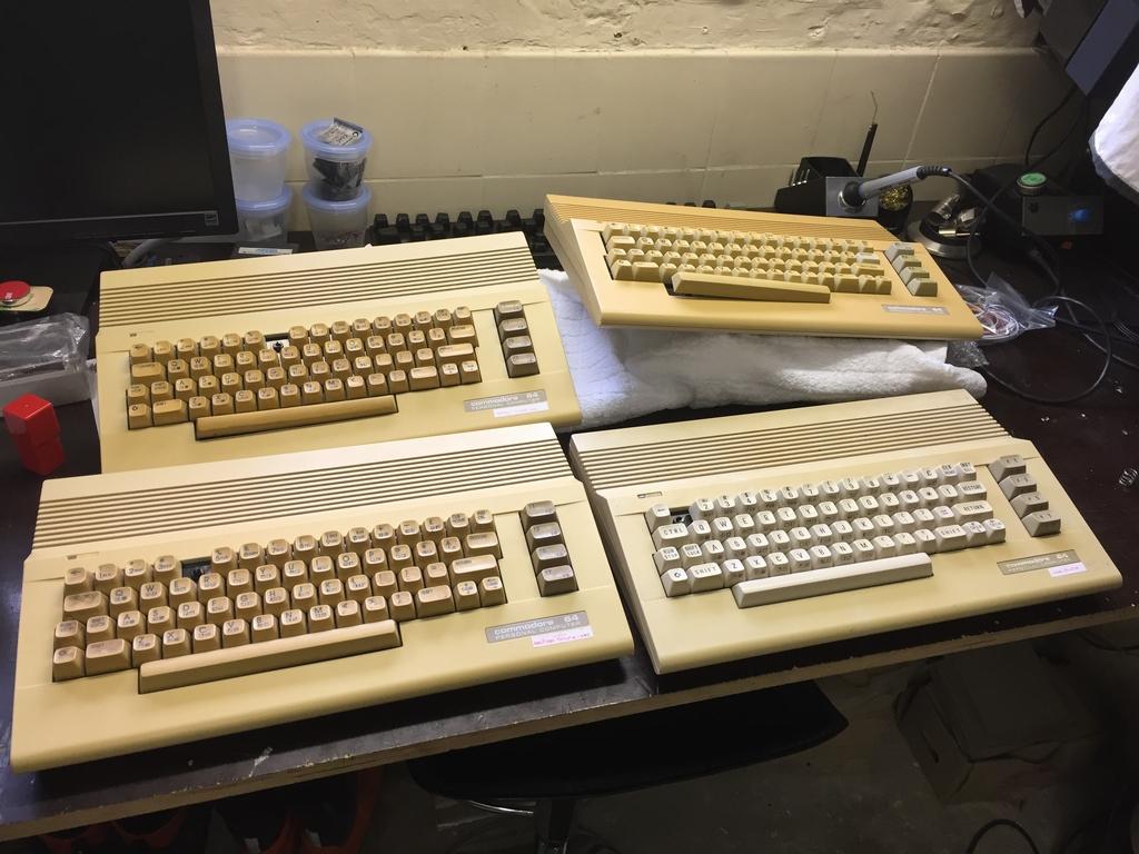 Broken C64's Repaired
