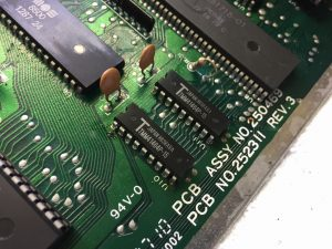 Commodore 64 reision E short board black screen. Repair log breadbox64.com