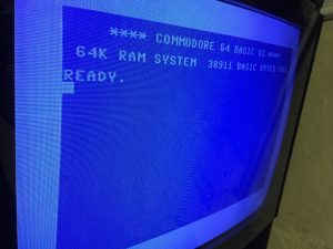 C64 reapir. Scrambled characters in start screen. breadbox64.com