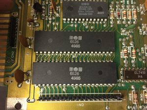 Commodore 64 control port fault. Reapr log. breadbox64.com