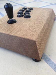 Myoungshin Fanta fightstick made from oak. breadbox64.com