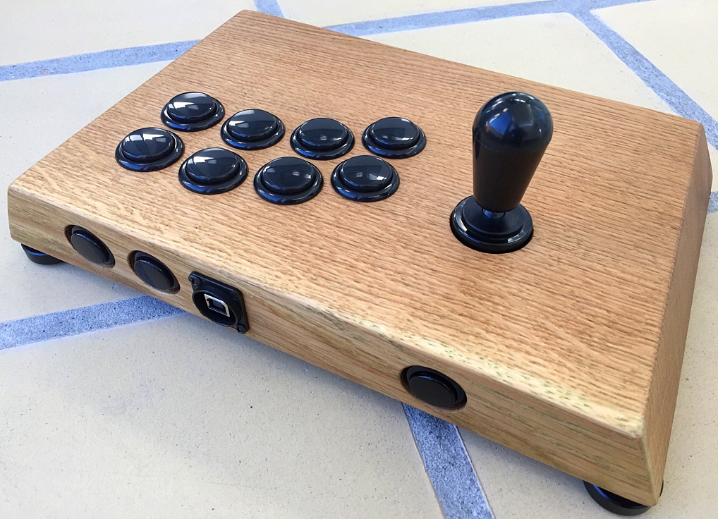 Myoungshin Fanta Joystick fightstick for Tekken. Breadbox64.com