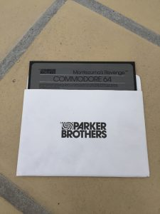 Montezuma's Revenge Parker Brothers Commodore 64 diskette game