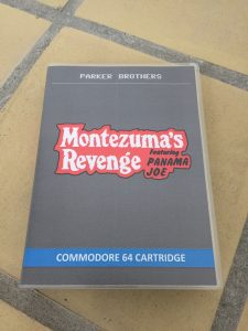 Commodore 64 Montezuma's revenge on cartidge and a Magic Cart.