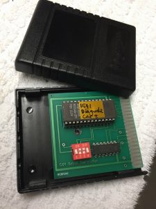 Commodore 1541 Diskette Drive diagnostic test cartridge. Cration of the cart using an 16kB EPROM. Tested on breadbox64.com