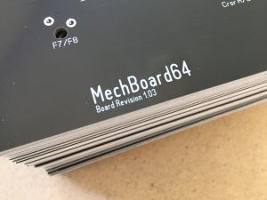 The MechBoard64. Black PCB for the Commodore 64 keyboard. breadbox64.com