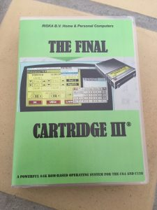 Commodore 64 Final Cartridge III cartridge presented in a Universal game Case