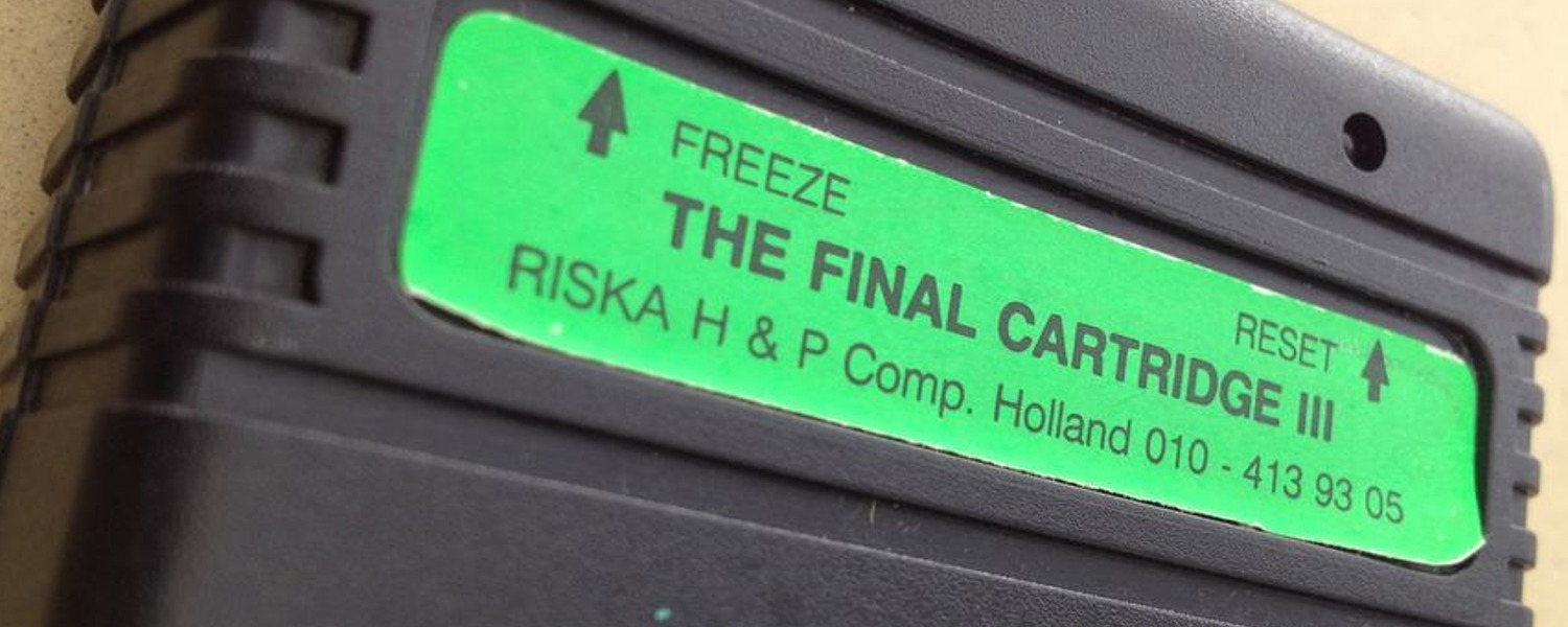Commodore 64 Final Cartridge III cartridge including the TFC3+ cartidge