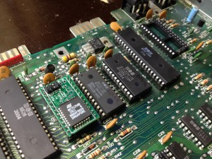 Commodore 64 Assy 250425 motherboard with swapped Basic and Character ROMs