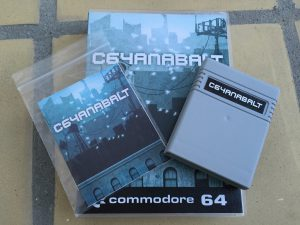 Commodore 64 C64anabalt game review on breadbox64.com. Game cartridge, Universlal Game Case and manual.