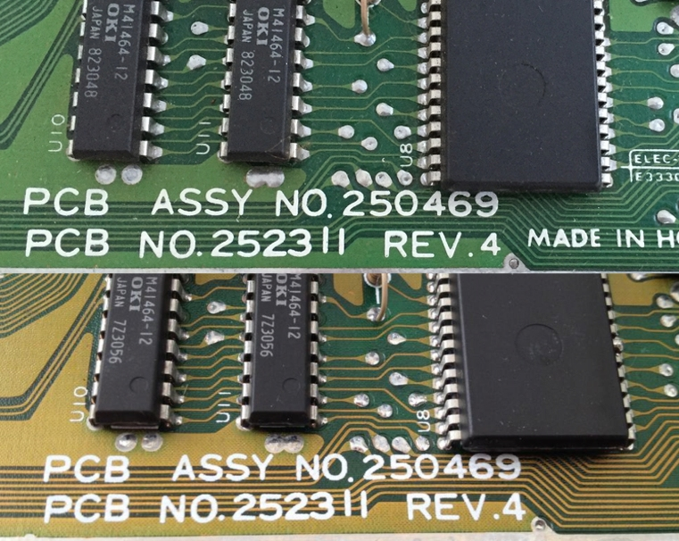 Commodore 64 Assy no. 250469 Rev. 4 motherboards in two different