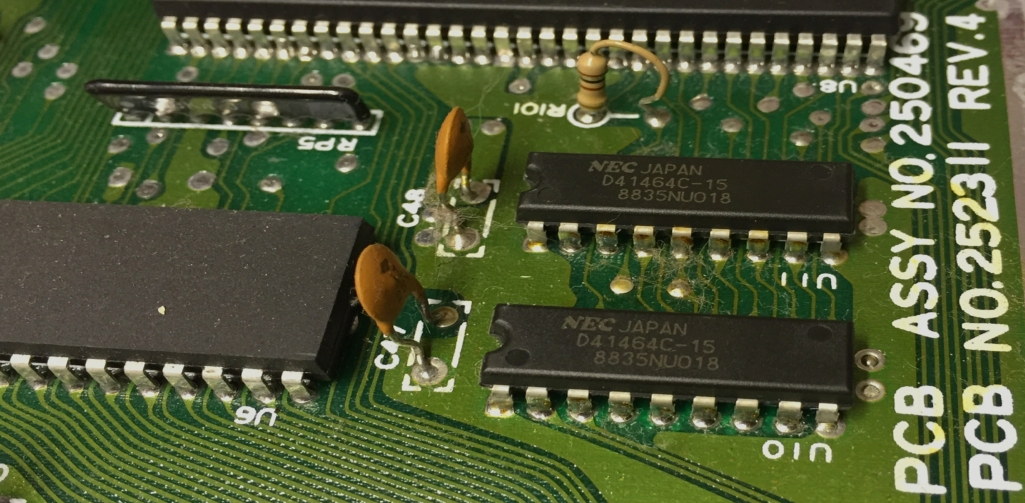 Commodore 64 Assy 250469 Rev 4. repait log. Faulty RAM modules, CIA and power switch