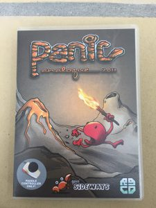 Commodore 64 Panic Analogue game review on breadbox64.com. Deluxe packaging from rgcd.co.uk. Front of the game case.