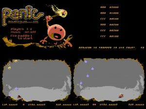 Commodore 64 Panic Analogue cartridge game from RGCD.co.uk. In-game obstacles from the game review on breadbox64.com. Made by Goin' Sideays.