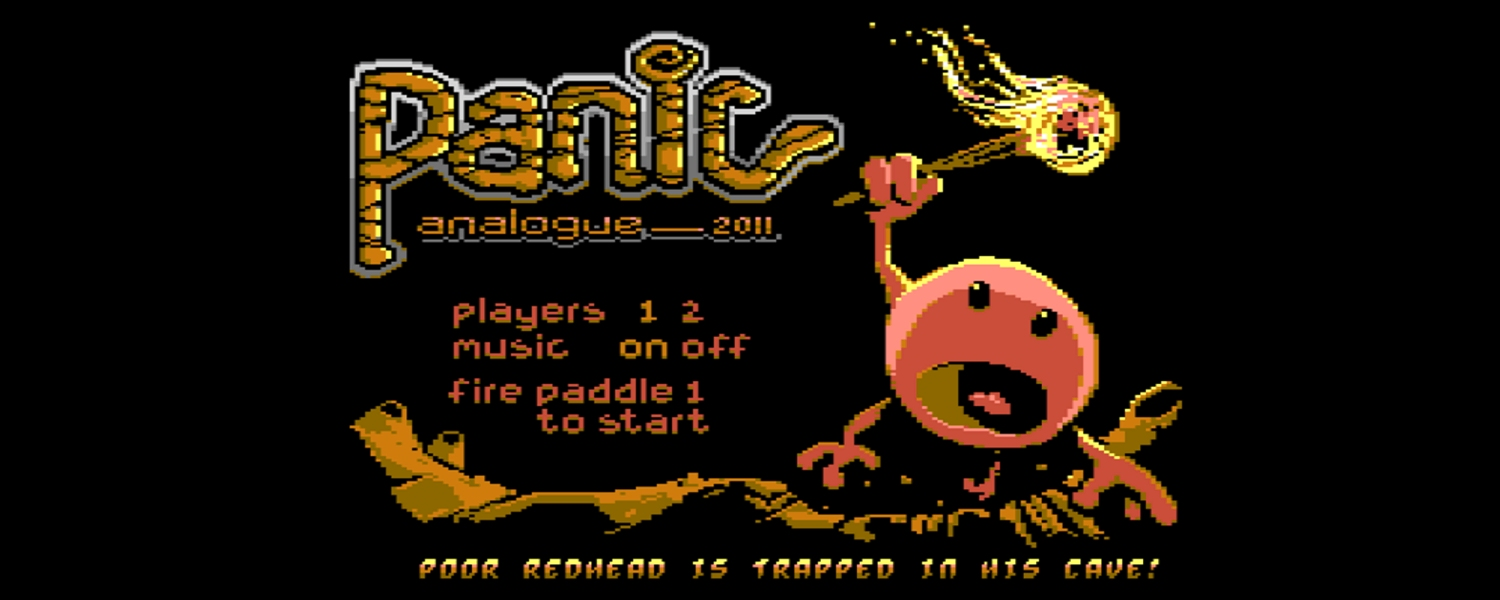 Commodore 64 Panic Analogue game review with in-game video and final verdict. Paddle controller game for the Commdoore 64