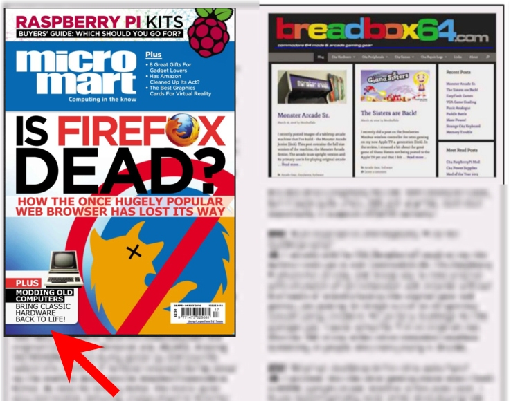 Breadbox64.com on Micro Mart by David Crookes.