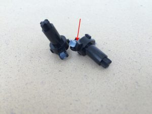 Commodore 64 Version B-3 motherboard, Assy 250466. Broken keyboard plunger. Read more on www.breadbox64.com