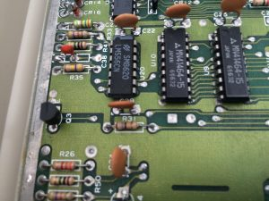 Commodore 64 Version B3, Assy 250466 motherboard. RESTORE mod by exchanging the capacitor at C38. See more on breadbox64.com