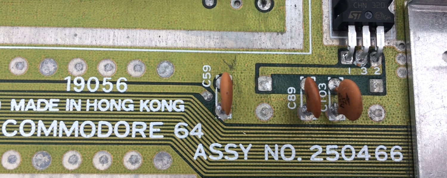 Commodore 64 Version B3, Assy 250466 motherboard. See more on breadbox64.com