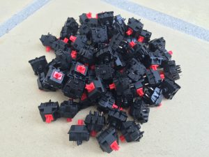 Red Cherry MX switches for the New COmmodore 64 Keyboard. Read more on breadbox64.com