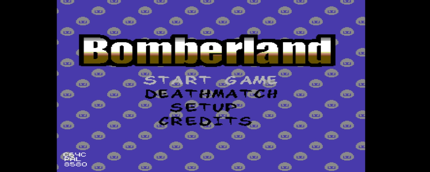 Bomberland game for the Commodore 64. Up to 5 players can pay at the same time. Read the review on breadbox64.com
