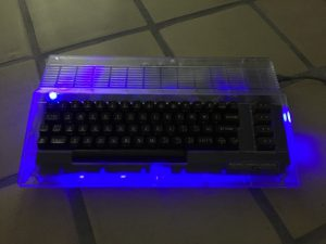 Commodore 64 LED mod - blue light mod.