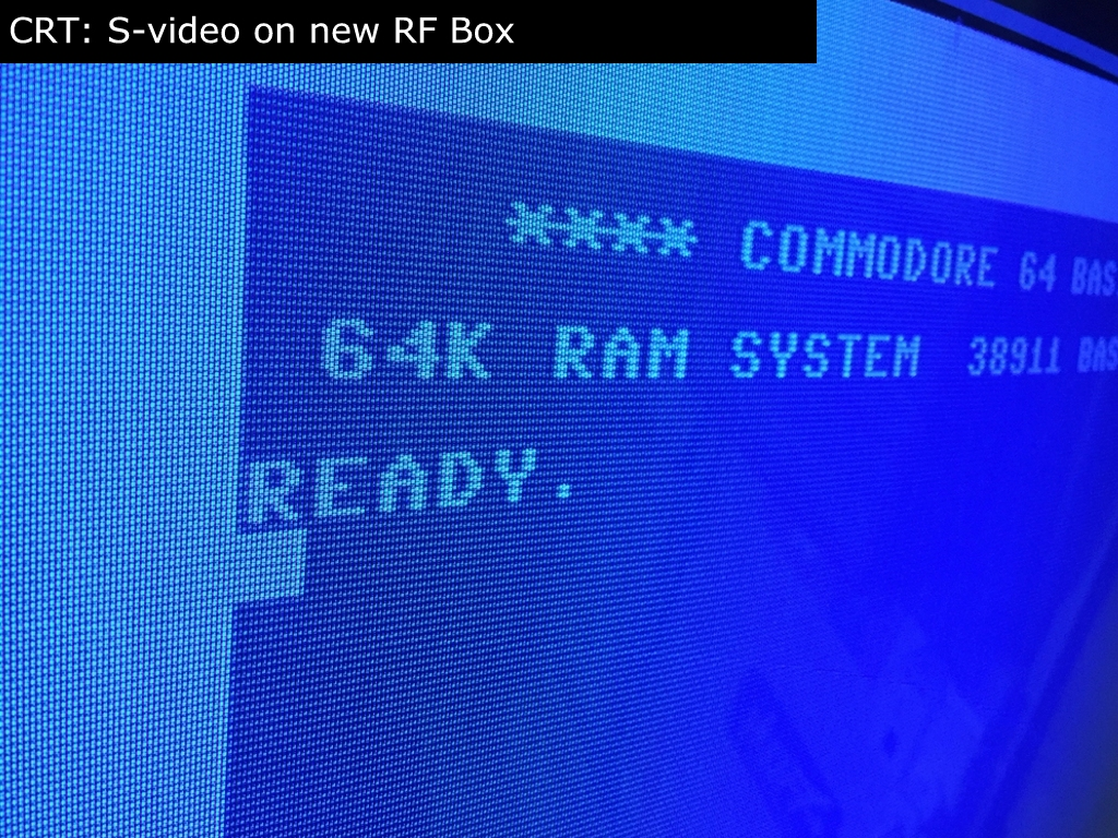 C64c Rf Box Mod Tvs Together With Samsung 42 Inch Plasma Tv Circuit Boards On Before The I Also Shot Some Pictures Of Image Quality My In Living Room As Knew That S Video Related Artifacts Would