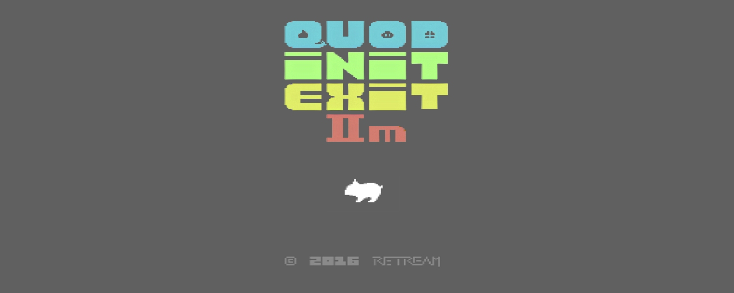 Quod Init Exit IIm platform game for the Commodore 64. Read the game review on breadbox64.com