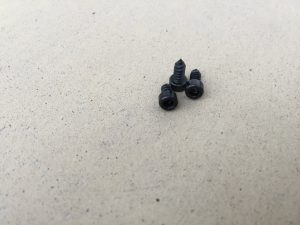 Commodore 64 black self tapping screws. breadbox64.com