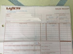 Commodore 1530 datasette receipt