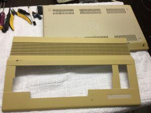 FIlling the holes in a Commodore 64. Case modding on breadbox64.com