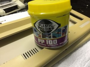 Plastic Padding for fIlling the holes in a Commodore 64. Case modding on breadbox64.com